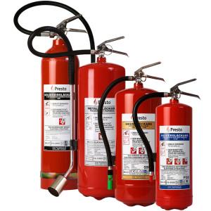 Brandsläckare från Presto